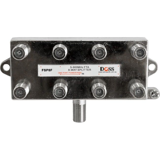 FSP8F 8 WAY 'F' SPLITTER FREE TO AIR