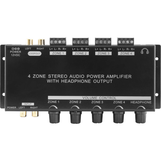 PRO1300 4 ZONE STEREO AUDIO POWER AMPLIFIER