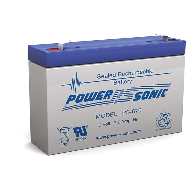 D7-6V 6V 7AMP DOSS SLA BATTERY