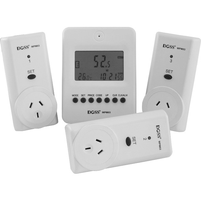 WPM03 WIRELESS POWER METER WITH 3 MAINS