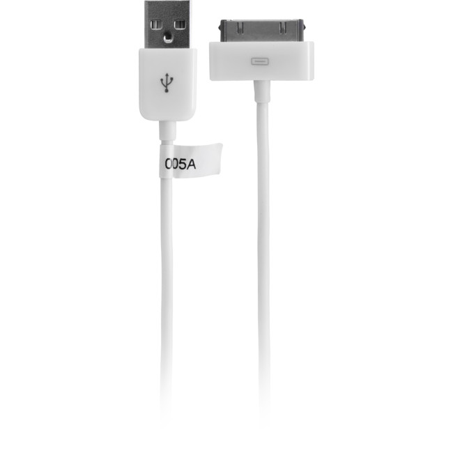 IPLEAD2W (USBA-IPOD) – 2MT – USB-A PLUG TO IPOD LEAD WHITE