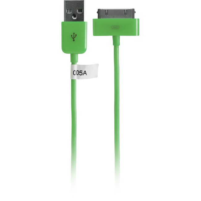 IPLEAD1G – 1METRE – USB-A PLUG TO IPOD LEAD GREEN