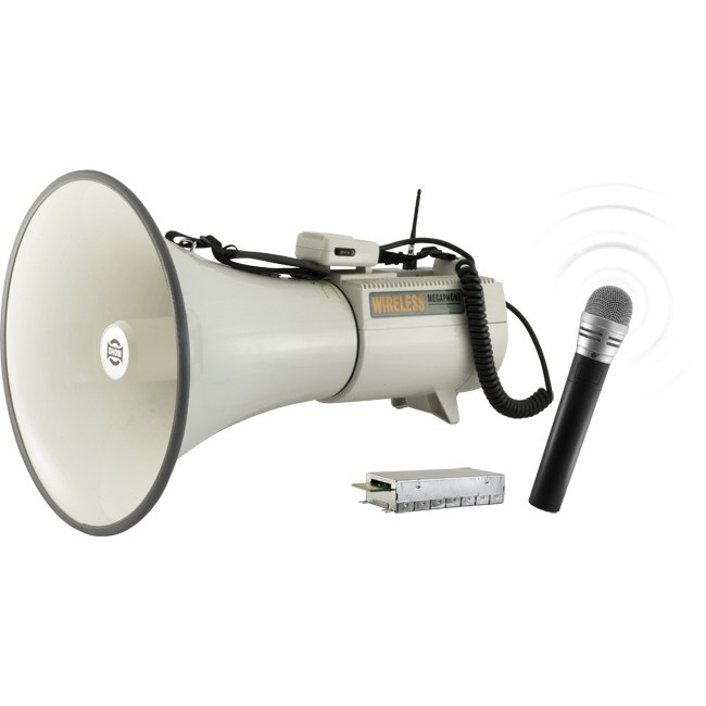 ERU68BSW WIRELESS POWERED MEGAPHONE
