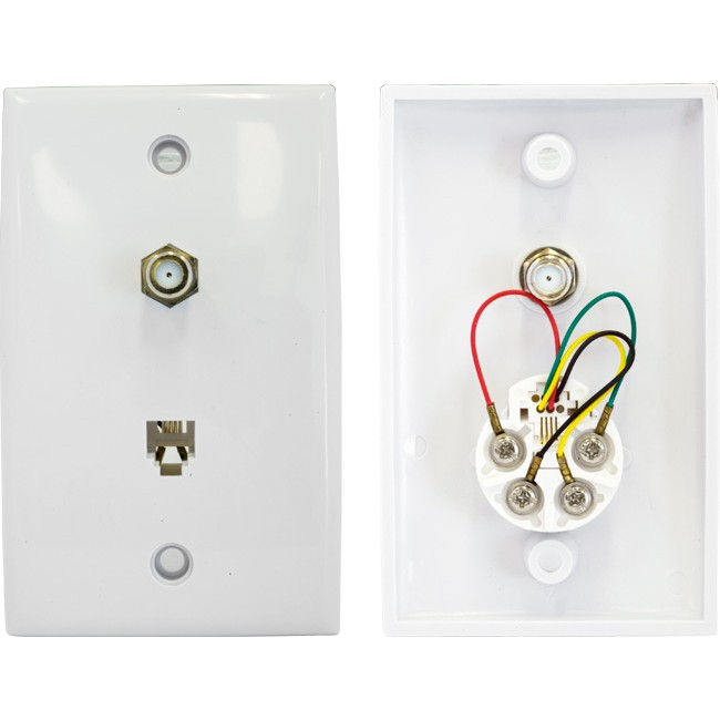PR3870 TV WALL PLATE WITH TELEPHONE