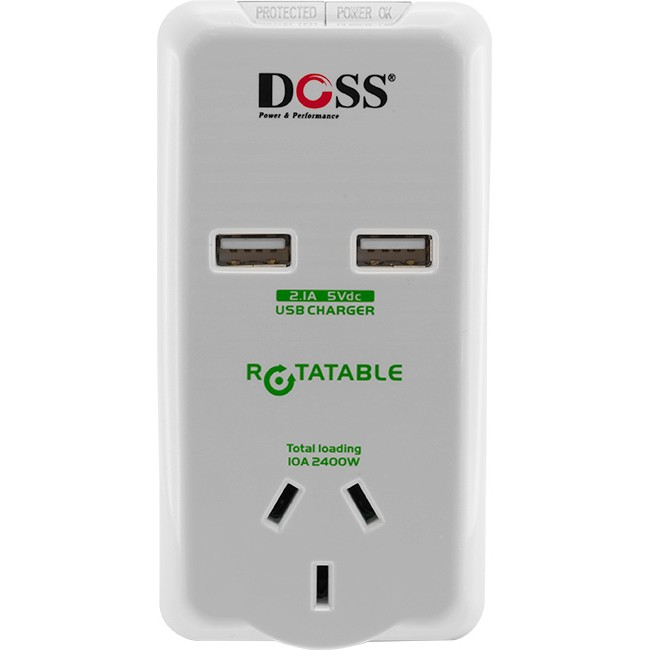 SR2USB ROTATING POWER OUTLET WITH  2X USB PORTS