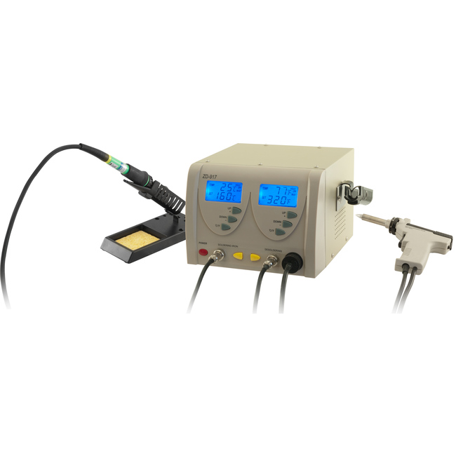 ZD917 SOLDERING AND DESOLDERING 2-IN-1 STATION