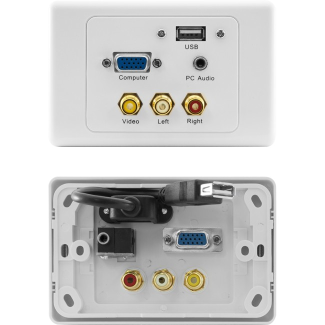 PRO1309 VGA COMPOSITE AV USB PC AUDIO CLIPSAL WALLPLATE