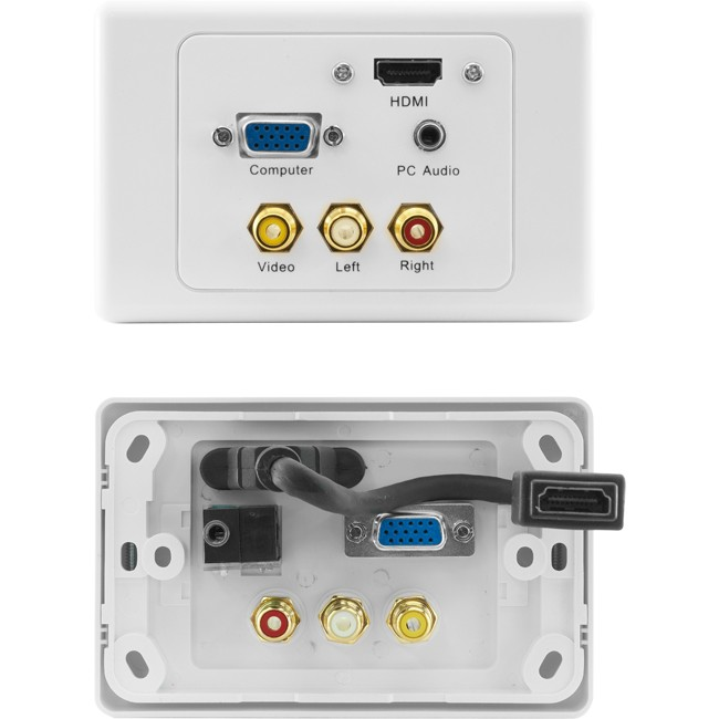 PRO1310 HDMI VGA COMPOSITE PC AUDIO WALLPLATE