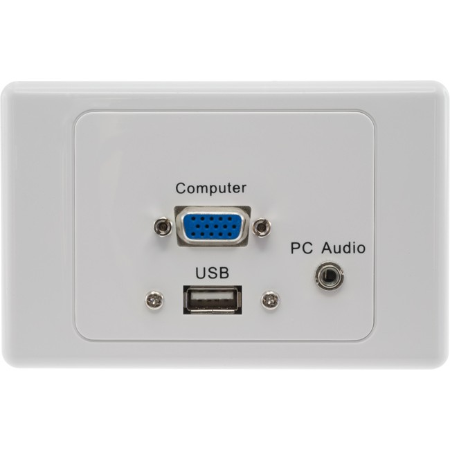 PRO1314 USB VGA PC AUDIO WALL PLATE