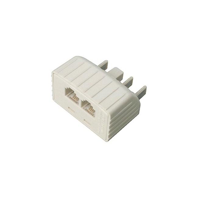 TEL2040 605 PLUG TO 2X RJ12 MODULAR