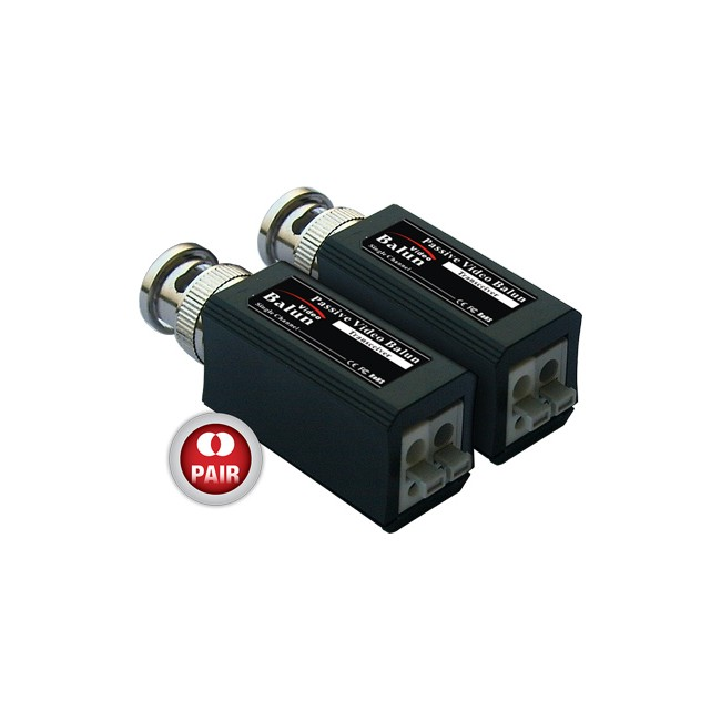 BVB4100P MINI PASSIVE BNC VIDEO BALUN – PUSH PIN TERMINALS
