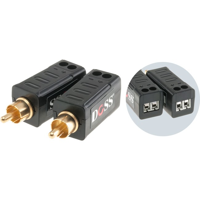 AAB1001 RCA ANALOGUE AUDIO BALUN UP TO 1.5KM VIA CAT5E/6
