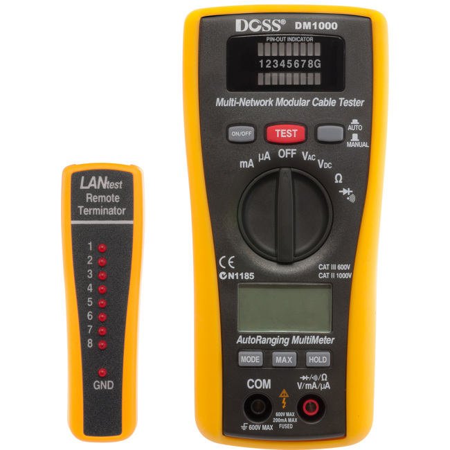 DM1000 LAN TESTER & MULTIMETER COMBO