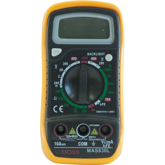 DM830L DIGITAL MULTIMETER BACKLIGHT (MSA830L)