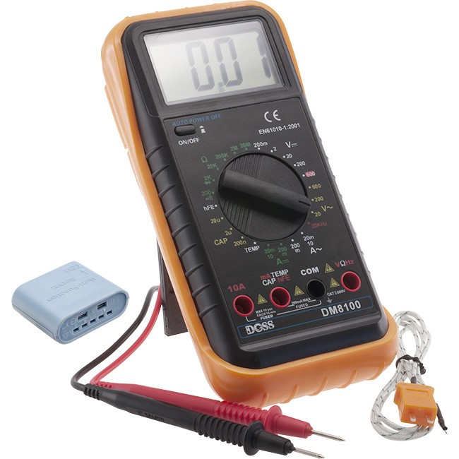 DM8100 DIGITAL MULTIMETER WITH TEMP.