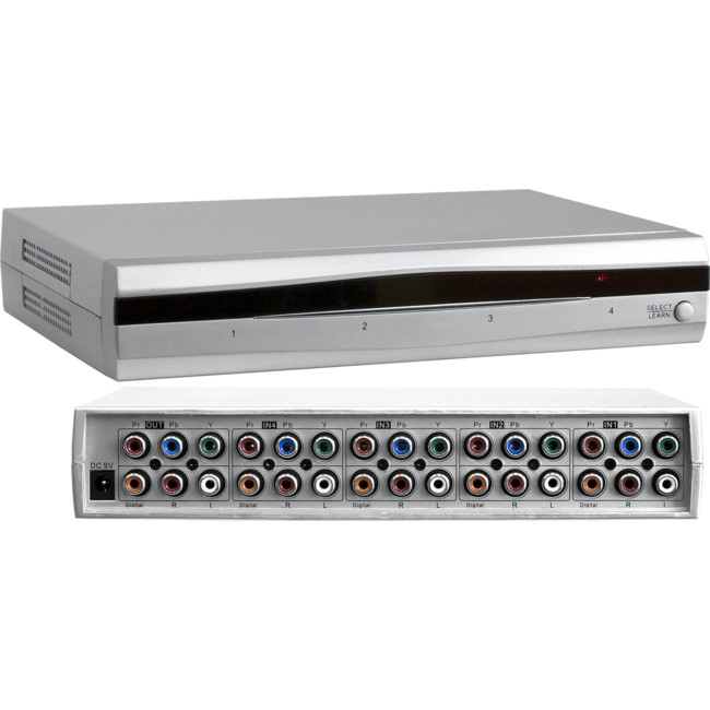 HD4DCAD 4 WAY COMPONENT VIDEO SWITCHER