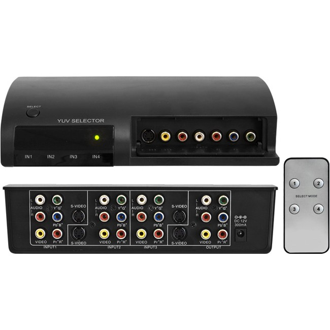 AV41RGB 4 WAY AV SWITCHER WITH REMOTE