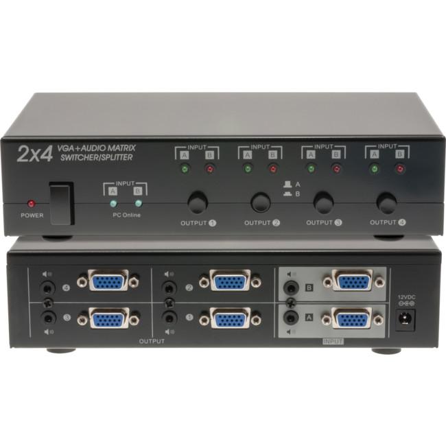 PRO1338 2X4 VGA + AUDIO MATRIX