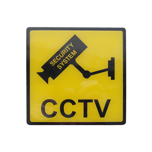 SN120 120MM YELLOW CCTV SECURITY SIGN
