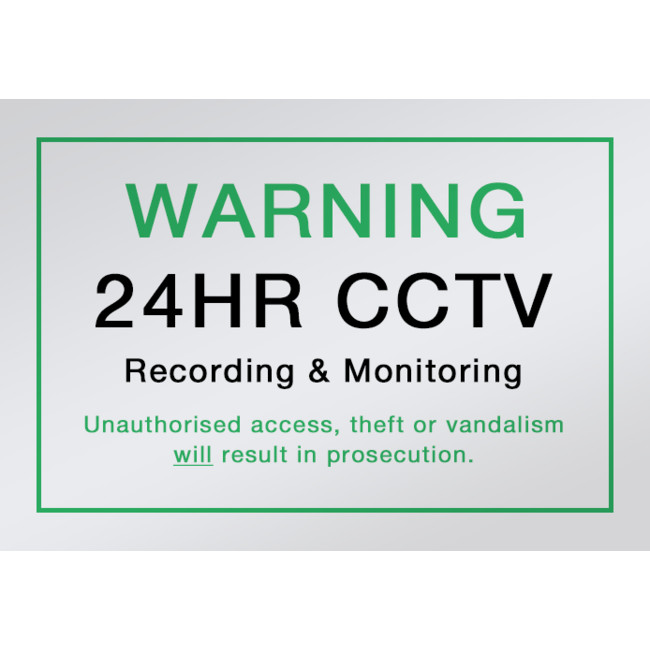 SNA4 A4 SIZED CCTV WARNING SIGN