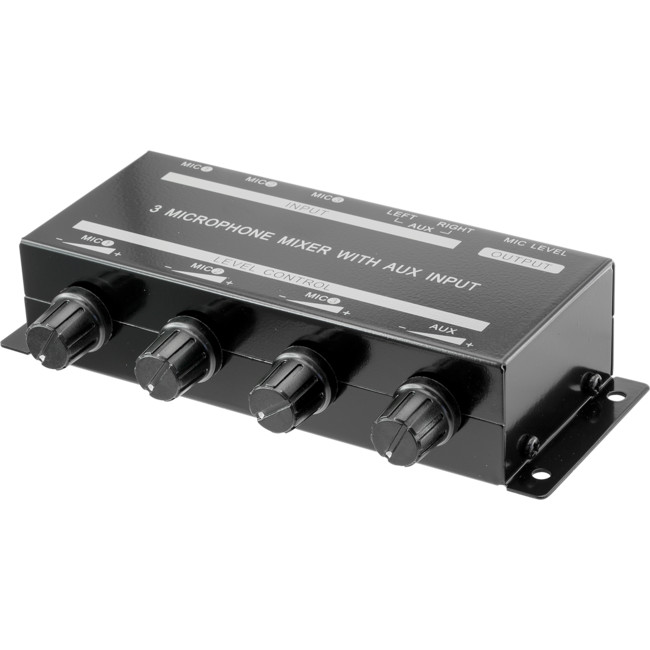 PRO1348 3-CHANNEL MICROPHONE MIXER