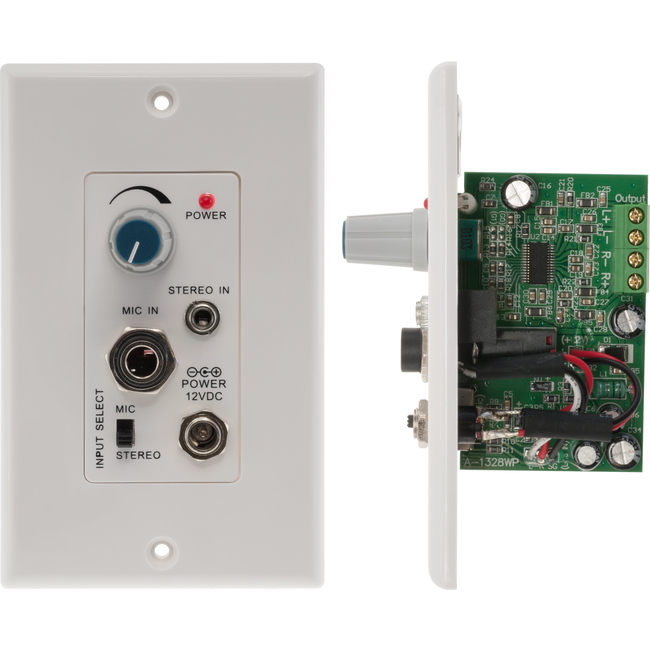 PRO1328WP STEREO AUDIO POWER AMPLIFIER WALL PLATE