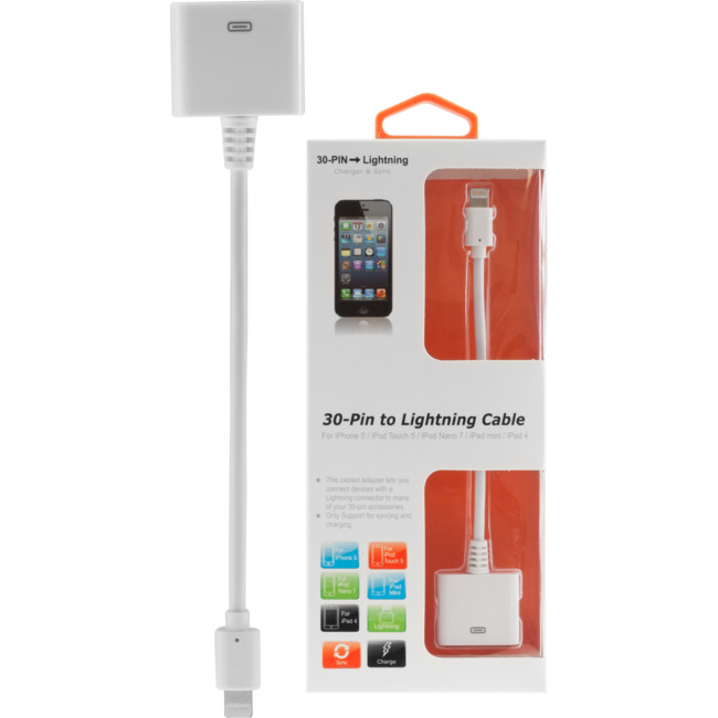 LC7360 – 15CM – IPHONE 5 LIGHTNING TO 30-PIN LEAD
