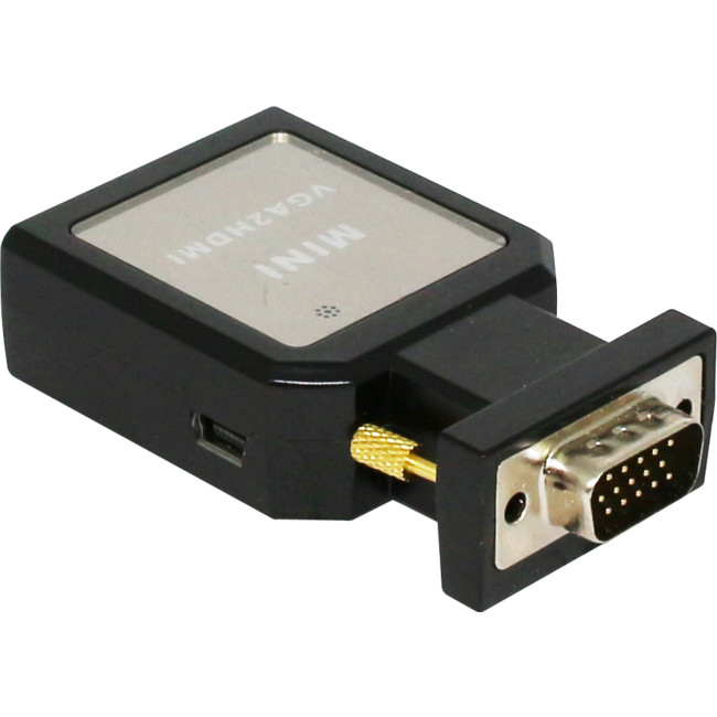 VH04 VGA TO HDMI MINI 3.5MM STEREO AUDIO COMPACT CONVERTER