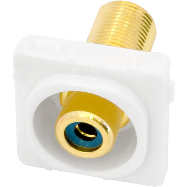 PK4644 BLUE RCA SOCKET TO 'F' SOCKET CLIPSAL INSERT
