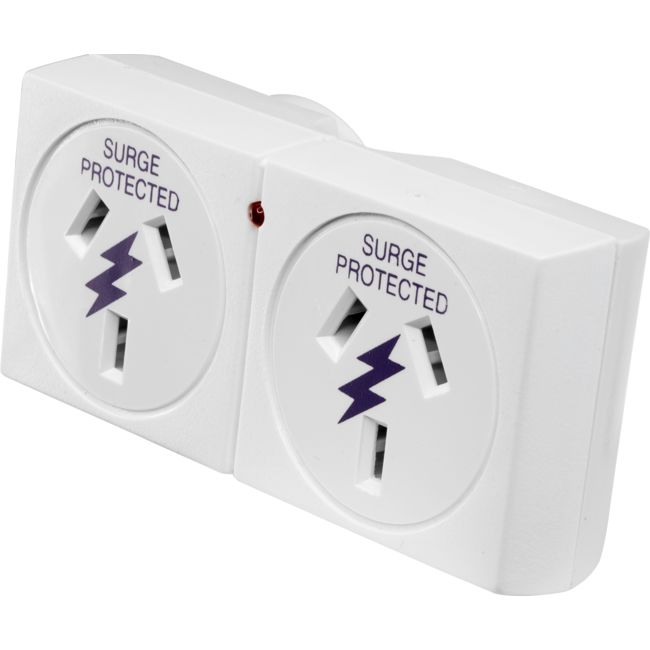PB20RS SURGE PROTECTED DOUBLE ADAPTOR