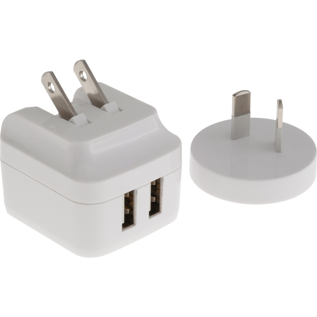 SM534W DUAL USB SMART CHARGER (WHITE)