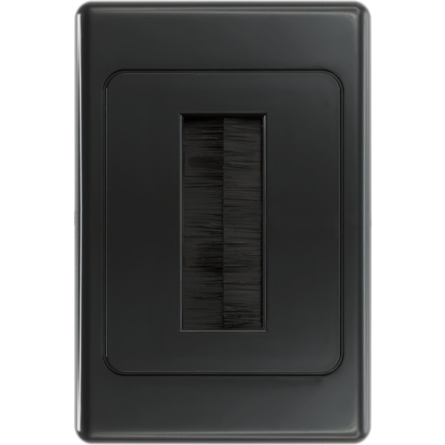 PRO1272B BLACK BRUSH WALL PLATE