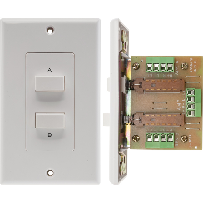PRO1022 A, B OR A+B SPEAKER SELECTOR WALL PLATE