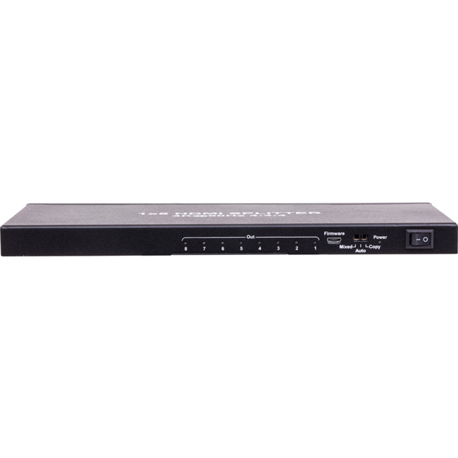 HDMI8SPV2 18GBPS 8 WAY 1-IN 8-OUT SLIM HDMI2.0 SPLITTER