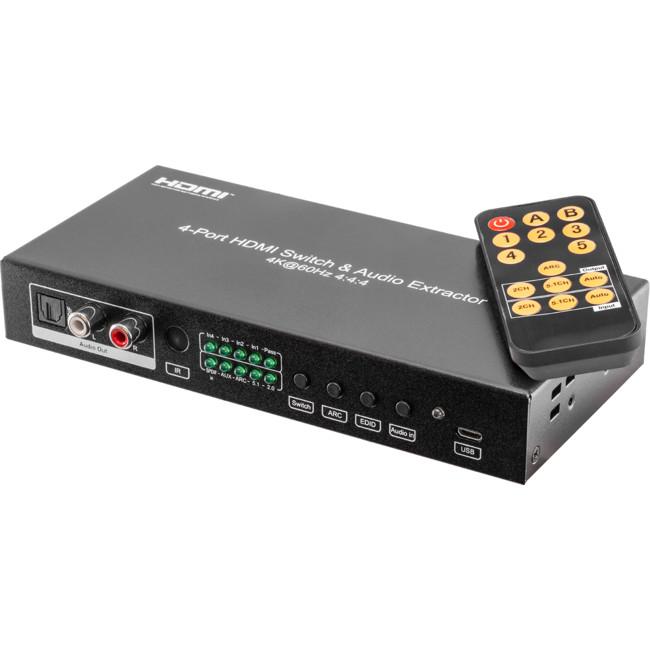 HDMI4S18G 4-WAY 18GBPS HDMI SWITCHER
