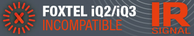 Not compatible with Foxtel iQ2/iQ3