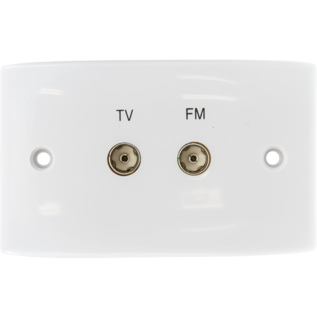 PR4605 TV & FM TWIN TV WALL PLATE