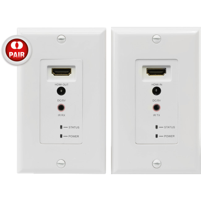 HDC6WP HDMI OVER CAT5E/6 WALL PLATE